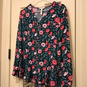 Matilda Jane Floral Long- Sleeve Blouse